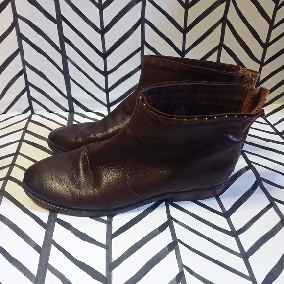 Crown Vintage Aggie Leather Booties
